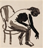 David Park, Girl in Chair Bending Over