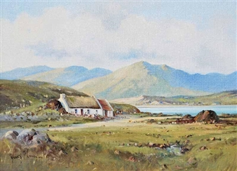 Irish Cottage County Donegal Ireland By Henry Mclaughlin ,1985