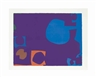 Patrick Heron, Blue and Deep Violet with Orange, Brown and Green
