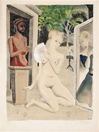 Paul Delvaux, L'Eventail (Jacob 21)
