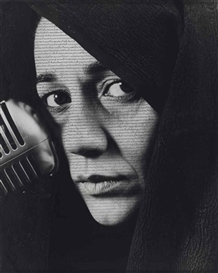 Artwork by Shirin Neshat, Shameless, Made of ink on gelatin silver print