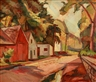 Edgar Hewitt Nye, Street Scene with Houses