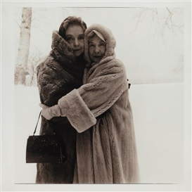 Artwork by Diane Arbus, The Gish Sisters, Made of Toned gelatin silver print