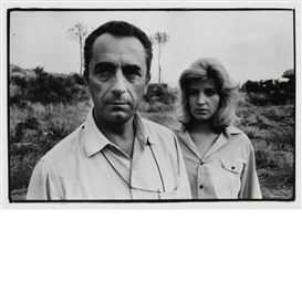 Artwork by Robert Frank, Italian Movies [Michelangelo Antonioni and Monica Vitti, Venice Film Festival, Made of Gelatin silver print