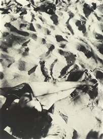 Artwork by László Moholy-Nagy, In The Sand, Made of Photographs