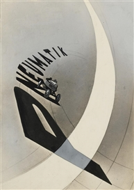 Artwork by László Moholy-Nagy, Advertising Poster (Pneumatik), Made of comprising a gelatin silver print with extensive applied gouache and pigment