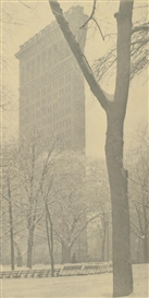 Artwork by Alfred Stieglitz, The Flatiron - New York, Made of Photographs