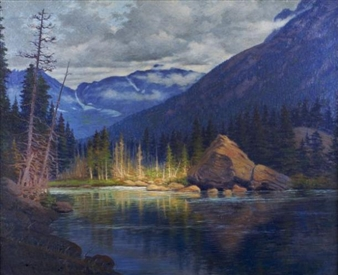 Reflecting Lake By Robert Lindneux ,1920
