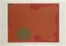 Patrick Heron, UMBER DISC, RED EDGE