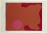 Patrick Heron, MAGENTA DISC, RED EDGE