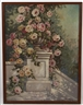 Franz Zallinger, Painting of a garden urn with pink roses