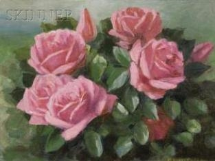 Bouquet of Pink Roses By Mae Bennett Brown