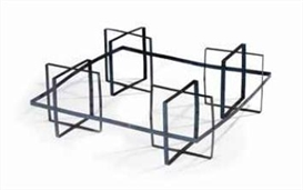 Artwork by Carel Visser, Slappe meubels, Made of aluminium strips and blind rivets
