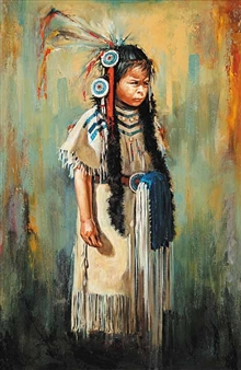 Little Indian Girl By Vilem Zach