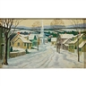 George A. Bradshaw, A winter village scene
