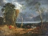 John Constable, A WINDY DAY: COUNTRYFOLK AND HORSES IN A LANDSCAPE