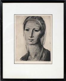 Artwork by Frederic Taubes, PORTRAIT OF A WOMAN, Made of ecthing