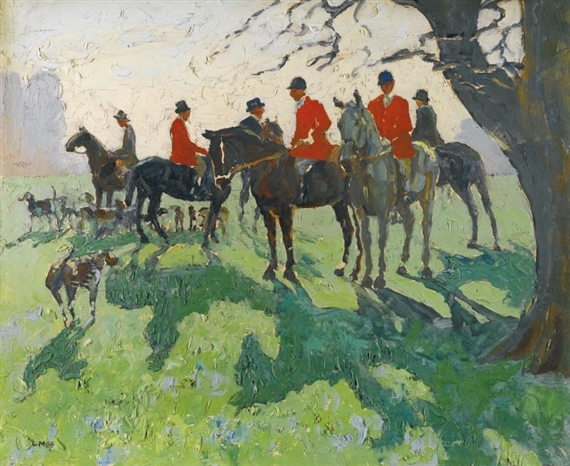 Artwork by Letitia Marion Hamilton, A REST FROM HUNTING, Made of oil on board