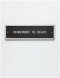 Artwork by Jenny Holzer, Untitled (Selection), from Survival Series, Made of Aluminum plaque with black paint