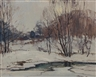 Leonard Brooks, Untitled - Winter Landscape