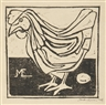 M.C. Escher, Hen With Egg