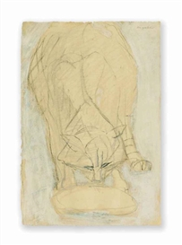 Artwork by Max Gubler, Katze, Made of Mixed media on paper