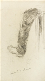 Artwork by Marcel Duchamp, LA JAMBE DU PAYSAN, Made of graphite on paper