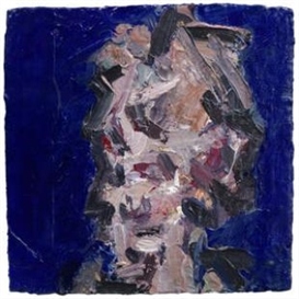 Artwork by Frank Auerbach, Head of Julia III, Made of acrylic on board