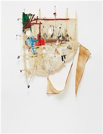 Artwork by Elliott Hundley, Untitled, Made of Paper, collage, fabric, wire, wood, found materials