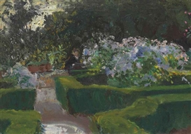 Artwork by John Singer Sargent, Garden at Granada, Made of oil on canvas