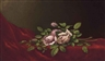 Martin Johnson Heade, Pink Roses on a Red Cloth