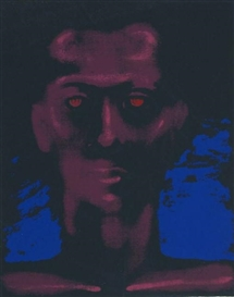 Artwork by Roy DeCarava, Self-Portrait, Made of Screen print in color