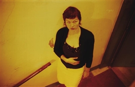 Artwork by Nan Goldin, Valérie in Yellow Light, Paris, Made of Cibachrome print flush-mounted to aluminium