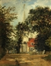 John Constable, A view of a church, thought to be Dedham Church