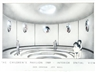 "Dan Graham, Jeff Wall, The children's pavilion - Architectural Plan ""Interior Spatial View"""