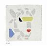 Bart van der Leck, 2 works: Goat; A monochrome white tile