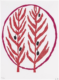 Artwork by Louise Bourgeois, Untitled, Made of colour lithograph