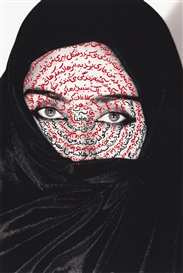 Artwork by Shirin Neshat, I am its secret, 1993, Made of C-Print