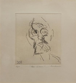 Artwork by Frank Auerbach, Joe Tilson (from Six Etchings of Heads), Made of etching