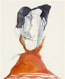 Artwork by Rainer Küchenmeister, UNTITLED, Made of Watercolour over pencil on firm paper