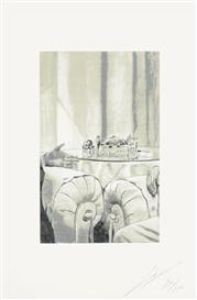 Artwork by Luc Tuymans, EGYPT, 2003, Made of Colour silkscreen on Rives wove paper