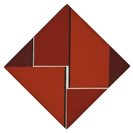 Artwork by Ilya Bolotowsky, Red Diamond, Made of oil on wood