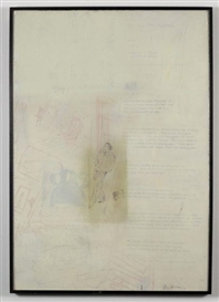Artwork by Richard Prince, LADY PSYCHIATRIST, Made of Acrylic, silkscreen and graphite on paper