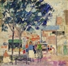 Nancy Maybin Ferguson, French Street Scene