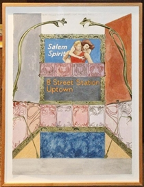 Artwork by Joyce Kozloff, Hector Guimard on 8th Street, 1984, Made of Watercolor