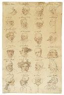 Artwork by Thomas Rowlandson, HEAD STUDIES, Made of Ink and color washes on paper
