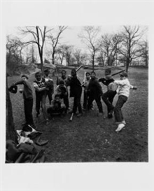 Artwork by Diane Arbus, Baseball Game, Central Park, Made of gelatin silver print