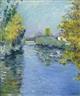 Gustave Caillebotte, Petit bras de la Seine, effet d'automne