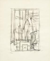 Artwork by Alberto Giacometti, Tête de cheval I, Made of Lithograph
