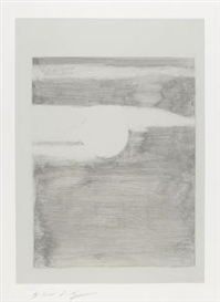 Artwork by Luc Tuymans, Sunset (IV), Made of Monotype on Arches France paper / Aquarelle Arches paper